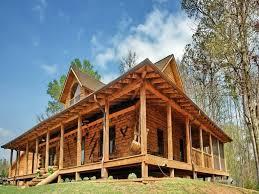 log homes with wraparound porch