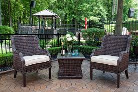 mila collection all weather wicker luxury patio furniture 2 person set