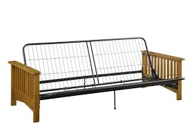 dorel home products black metal futon frame for wood arms amazon