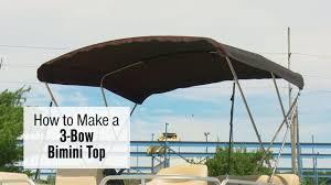 how to make a 3 bow bimini top on a pontoon