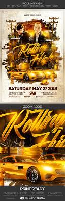 trap reggaeton flyer rolling high hip hop rap trap reggaeton party flyer by