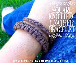 square knotted leather bracelet tutorial