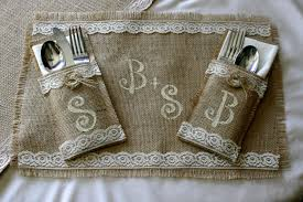 Country Table Decorations Bride And Groom Table Setting Burlap Wedding Table