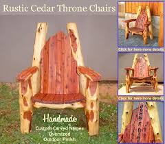 log cabin outdoor furniture patio. for details and views of other throne chair designs pricing please click log lodge furniture cabin outdoor patio h
