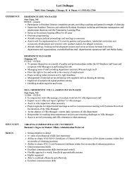 Accomodation Officer Sample Resume Residence Manager Resume Samples Velvet Jobs 13