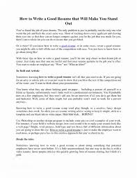 How To Write A Great Resume Classy How To Make A Good Resume How To Make A Good Resume Ambfaizelismail