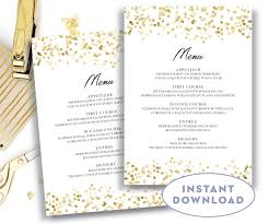 Menu Templates Microsoft Word Gold Wedding Menu Template 24x24 Editable Text Microsoft Word Menu 15