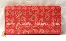 Coach 50920 Waverly Hearts Print Accordion Zip Wallet LOVE RED Gold NWT  Rare!