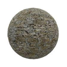 irregular stone wall pbr texture