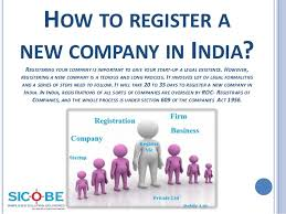 How To Register A Company How To Register Company Sai Tax Online