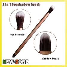 le golden color 2 in 1 eye shadow brush blender super fine soft contour makeup eyes