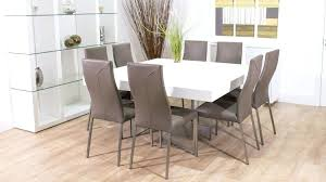 square dining table for 4. Small Square Dining Table Modern White Design With Grey Leather For 4 G
