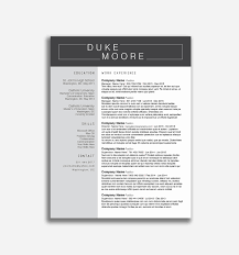 Modern Resume Templates Free Word Professional Free Modern Resume