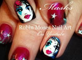 Robin Moses Nail Art: Mardi Gras type Mask Nail Art. How to paint ...