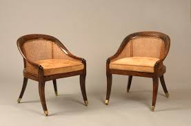 Small Chairs For A Bedroom English Regency Period Simulated Rosewood Small Bergere Library