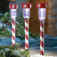 Candy Cane Yard Decorations Candy Cane Christmas Solar Light Decorations FallCatalogs Fall 95