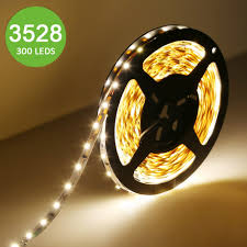 12v flexible led strip light led string lights warm white non waterproof tape light pack of 5m 16 4ft