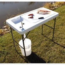 guide gear fish game cleaning processing folding table with sink faucet