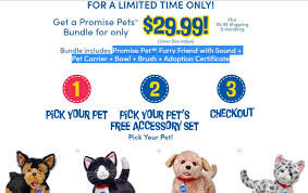 check out this great deal from build a bear right now through this link you can take advane of a special promotion for 29 99 you get your pick of a