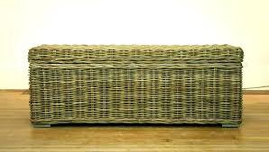 outdoor wicker storage bench chest alfresco home oxford inside