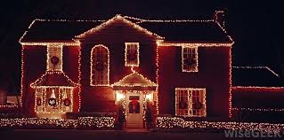 Image Red House With Rope Lights Wisegeek What Are Rope Lights with Pictures