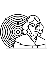 Small Picture Copernicus and Solar System coloring page Free Printable