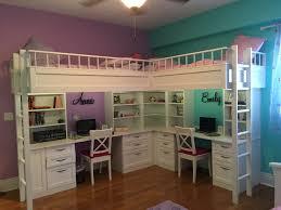bunk beds kids desks. Custom Made Dual Loft Beds With Desks Bunk Kids A