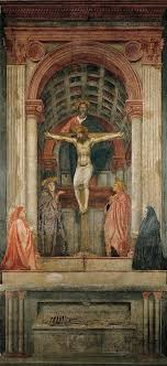 the painting holy trinity by masaccio was made the painting is a art also as fresco