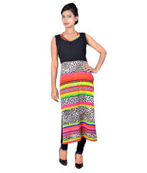 Sleeveless Long Kurti Designs Vivaa Designer Sleeveless Womens Long Kurti With Lining