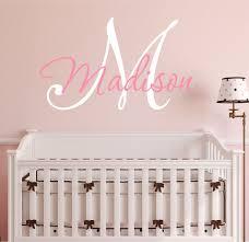 Lila Kinderzimmer Name Letters Baby Mädchen Dekor Grau Und