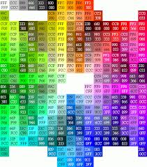 52 Abundant Html Hexadecimal Color Chart