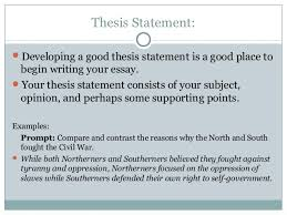 Comparative Essay Thesis Write Good Thesis Statement Compare Contrast Essay Prompt