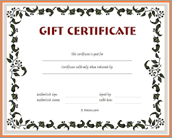Microsoft Gift Certificate Template Free Word 9675