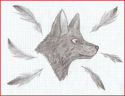 Graph Paper Drawings 61616 Graph Paper Wolf Draw By Lstheninjakitten