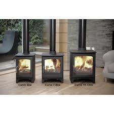 ecosy purefire curve 10kw contemporary woodburning stoves multi fuel 5 year guarantee