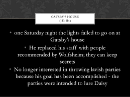 The Great Gatsby Chapter 7 Quotes