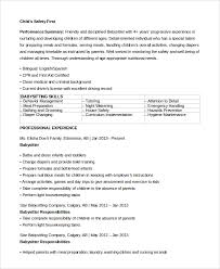 Babysitter Resume Interesting 28 Sample Babysitter Resumes Sample Templates