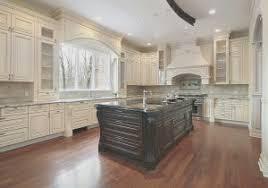 Charming Kitchen: Antique White Kitchen Cabinets With Dark Island Within Off ..