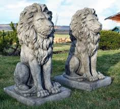 cheap garden statues. Two Cast Garden Lions, Very Large And Heavy Ornaments. Cheap Statues R