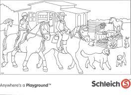 25 Bladeren Playmobil Paarden Kleurplaat Mandala Kleurplaat Voor