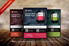 Design Flyers On Android Mobile App Flyer Templates By Kinzi21 On Creative Market