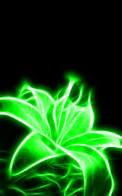 Glowing Neon Green Flower: i might get this for a tattoo!