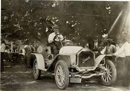 Driver posing in a 1909 Buick Model 16 racecar | DPL DAMS