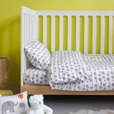 grey elephant duvet set cot bed