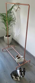 copper pipe clothing garment rack with by moodymarsh