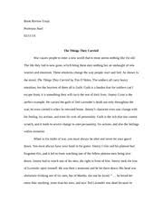 the things they carried essay co the things they carried essay the things they carried outline essay