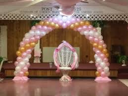 Pink, White and Gold balloon arch