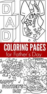 here are some easy and free fathers day coloring pages that your kids can color this