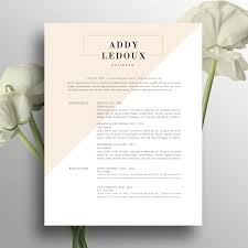 Creative Resume Template Cover Letter Word Us Letter A4 Cv