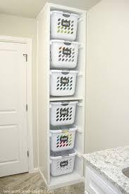 11 Laundry Storage Ideas | ORGANIZE. | Laundry room, Laundry basket ...